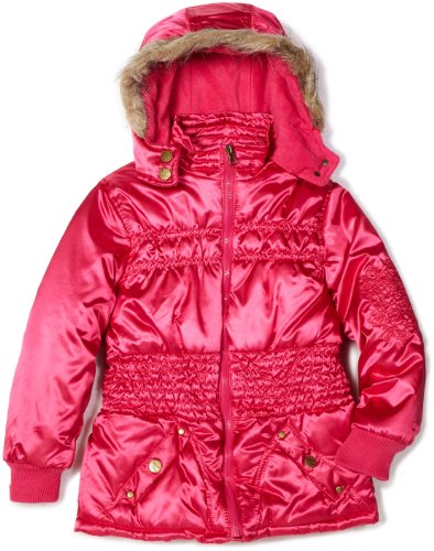 Velvet Chic Big Girls'  Satin Cinched Puffer Coat