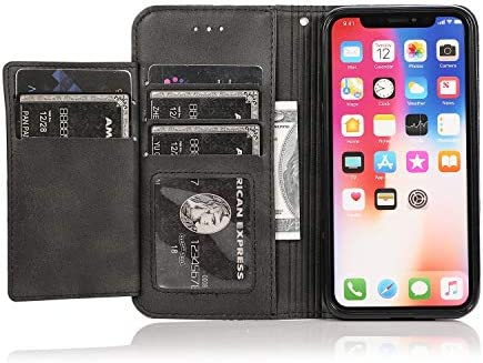手帳型 Samsung Galaxy J6 2018 ケース アイフォン 本革 レザーケース 財布型 カード収納 マグネット式 スマホケース スマートフォンケース サムスン ギャラクシーJ6 2018 [無料付防水ポーチ水泳など適用]