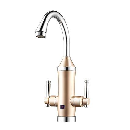 Elegante grifo de alta calidad- Grifo de cocina eléctrico Grifo de agua caliente y fría
