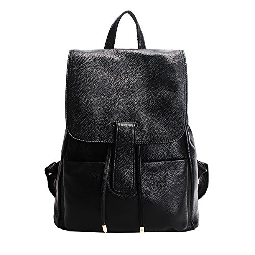 Girl femme dos Sac fashion Sac LF Noir en portés main 33038 cuir à E dnqz1w7d