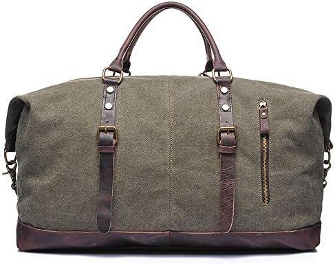 紳士ハンドバッグ メンズファッションミニマリスト荷物のバッグバッグショルダーバッグ上で一晩キャンバストートバッグ特大トラベルショルダーハンドバッグキャリーウィークエンドバッグ 便利で多用途 (色 : 白, Size : 55x26x38cm)