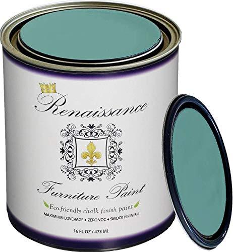 Retique It RFP-P16-CamelotBlue by by Renaissance Chalk Finish Paint, 16 oz (Pint), Camelot Blue 49