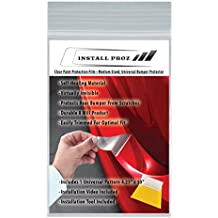 Install Proz Clear Paint Protection Film--Medium Sized, Universal, Rear Bumper Protector