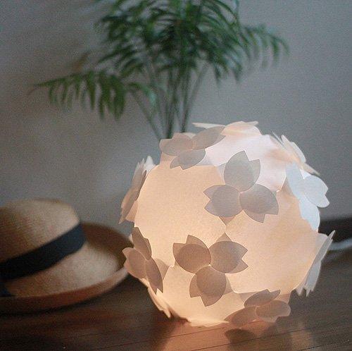コハルライト-桜-フロアライト 組立式 和紙照明器具 8w蛍光電球(40w相当) 電灯ユニット付 B00AUD4MKG