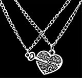 Best Fusicase Friend Pendant Necklaces - Fusicase Two Piece Best Friends Forever BFF Silver Review