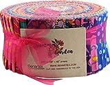 Summer Garden Pinwheel 40 2.5-inch Strips Jelly