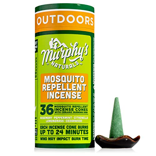 Murphy's Naturals Mosquito Repellent Incense Cones | DEET Free with Plant Based Essential Oils | 24 Minute Protection…