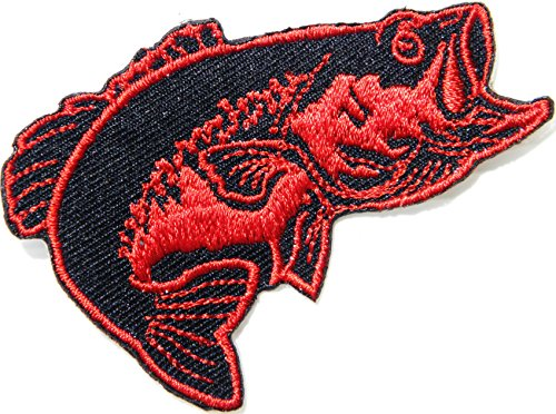 ish Lure Hook Logo Jacket T shirt Patch Sew Iron on Embroidered Badge Sign Costum ()