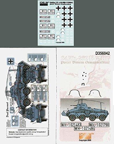 Echelon Fine Decal 1:35 WWII Sd.Kfz 232 8 Rad Pz Div Grossdeutschland - Decal Div