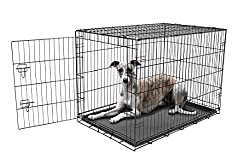Carlson Pet Products Secure & Foldable Single Door Metal Dog Crate, Large