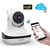 Wireless Security Camera, Toguard 1080P Home Surveillance IP Camera WiFi Baby Monitor with Night Vision, Pan/Tilt, Two way Talk by Android iOS App
