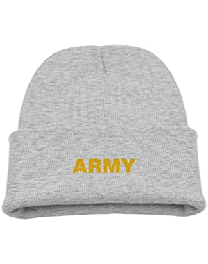 US Military Gold Army Logo Boy Girl Beanie Hat Knitted Beanie Knit Beanie