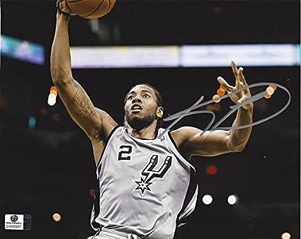 sports shoes 49831 5fd22 AUTOGRAPHED Kawhi Leonard #2 San Antonio Spurs Team SLAM ...