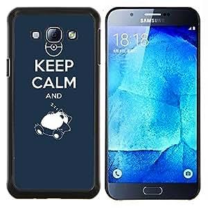 - Kepp Calm and Sleeping - - Cubierta del caso de impacto con el patr??n Art Designs FOR Samsung Galaxy A8 A8000 Queen Pattern