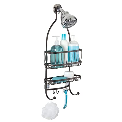 cbbfb31266a Amazon.com  InterDesign York Metal Wire Hanging Shower Caddy