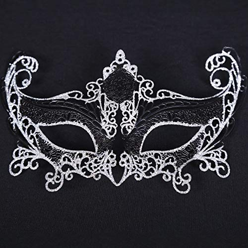 Party Masks - Iron Party Masks Sexy Women Halloween Fancy Dress Costume Lady Gifts Mask - Masks Bulk Party Stick Adults Superhero Dinosaur Capes Headbands Gold Lace Wear Couples Pack Wome -