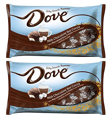 2 bags of Holiday Speciality DOVE Promises Milk Chocolate Hot Cocoa Flavored Candy - each bag 7.94 ounce