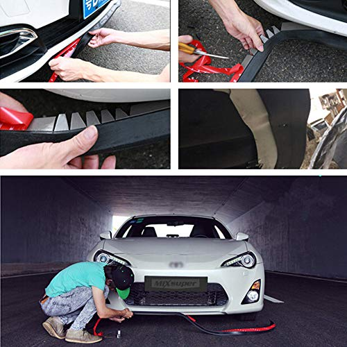 Black Protector LE2016102502 Lemonbest Universal 2.5M Car Front Bumper Lip Splitter Spoiler Rubber Skirt Protector Body Trim 8.2ft