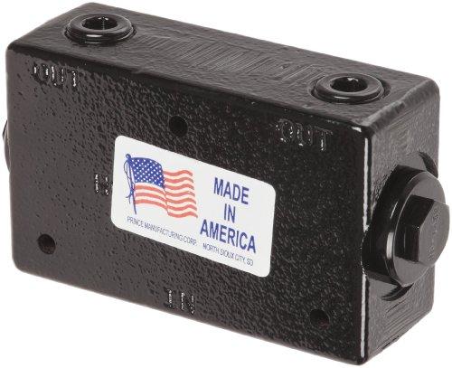 "Prince RD-1450 Lock Valve, Double Pilot, Cast Iron, 3000 psi, 30 gpm, 1/2"" NPTF"