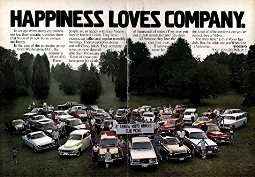 Happiness loves company Volvo Owners Club Picnic ad 1979 NY