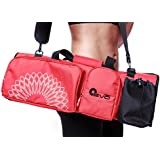 Yoga EVO Yoga Mat Bag with Open Ends, Mobile Pocket and Water Bottle Holder - Keeps Your Mat Dry and Odorless