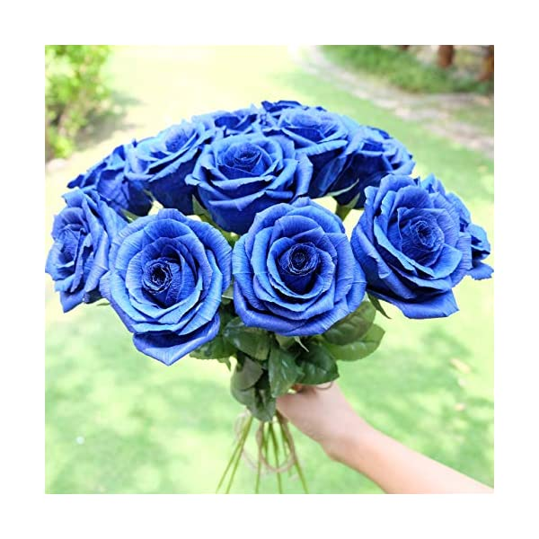 Royal-Navy-Blue-Paper-Rose-Unique-Anniversary-Gift-For-Her-Handmade-Crepe-Paper-Flowers-for-Valentine-Birthday-Mother-Day-Single-Long-Stem-Real-Looking-01-Flower