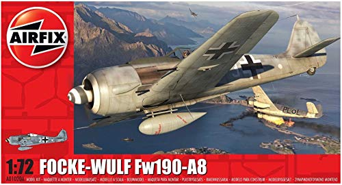 Airfix Focke-Wulf Fw190A-8 1:72 WWII Military Aviation Plastic Model Kit A01020A