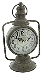 Rustic Style Old Lantern Numeral Dial Mantel Clock By Haysom Interiors