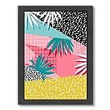 Americanflat Bingo Black Frame Print by Wacka Designs, 9'' H x 11'' W x 1'' D