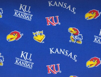 University of Kansas By Sykel- 100% Cotton, 44