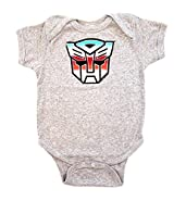 Transformers Autobot Color Shield Gray Onesie Baby Romper