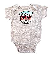 Transformers Autobot Color Shield Gray Onesie Baby Romper