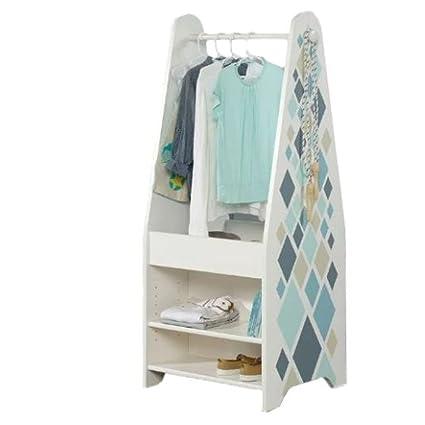 Wonderful Kids Wardrobe Wood Wardrobe Closet Girls Boys Kids Corner Rectangular  Armoire Organizer Small Cloth Furniture U0026