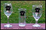 Cheap Labrador Retriever handpainted glasses – set of 2 – Iced Tea, Wine, Barware – Dishwasher safe – shipping pro rated for multiples