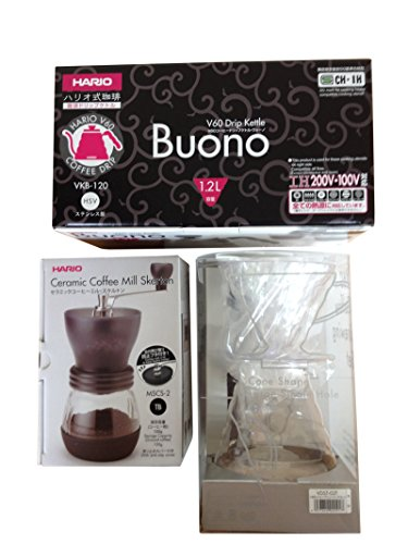 Best Hario V60 Kettle, Brewer Set & Coffee Mill – Three Products All Sold Together (online)