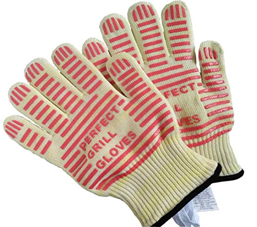 BBQ Gloves - Oven Gloves - Perfect Grill Gloves - Extreme Heat Resistant