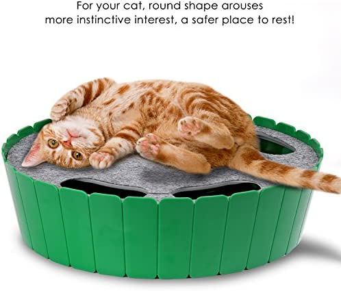 Pawaboo Cat Toy with Running Mouse, Electric Interactive Motion Cat Toy Automatic Rotating Teaser Pop and Play Hide and Seek Hunt Toy for Pet Cat Kitten Play Fun Excercise 5