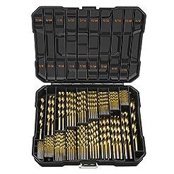 EnerTwist Titanium Drill Bit Kit Set for...