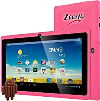 Zeepad 7DRK-Q 4 GB Tablet - 7 - Wireless LAN - Allwinner Cortex A7 A33 1.80 GHz - Pink - 512 MB RAM - Android 4.4 KitKat - Slate - 800 x 480 Multi-touch Screen Display - Bluetooth - 7DRK-Q-PINK