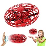 Joyfun Gifts for 4-10 Year Old Girls Flying Ball Air Magic Hogs Mini Drones for Kids Hand Controlled RC Toy Helicopter UFO Cool Toys for Boys with LED Lights Red