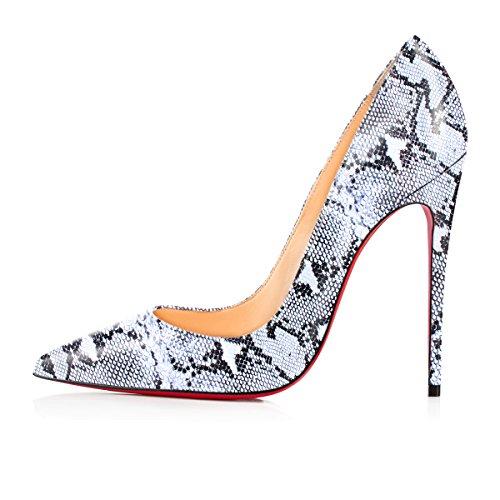 Chaussures Aiguille Grande Escarpins Femmes serpentine Haut Taille blanche Ubeauty Z Pu 120mm Talons Femme Talon Stilettos EdBURWcq