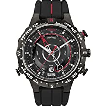 Timex Intelligent Quartz T2N720CS Adventure Series Tide Temp Compass Black Dial and Black Silicone Strap