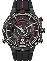 Timex Mens T2N720 Intelligent Quartz Tide Temp Compass Black Silicone Strap Watch