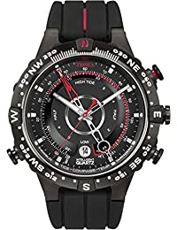 Timex Intelligent Quartz T2N720CS Adventure Series Tide Temp Compass Black Dial and Black Silicone Strap