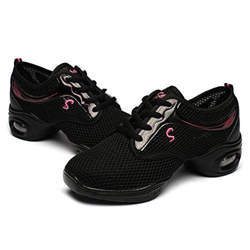 Danza Señoras Las Para Elegantes Las Deporte La Modelo del Zapatillas La de de Mujeres EST11 de Jazz Negro Modernos Danza Zapatos Zapatos de HIPPOSEUS AwaTSq6a