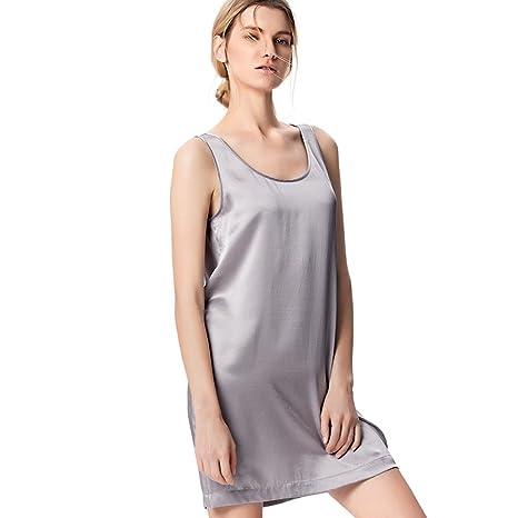 Pijamas de Vestido de arnés Verano de Falda de Seda 100% Mulberry ...