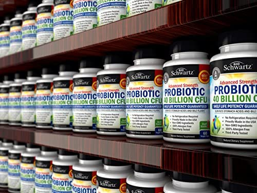 Probiotic 40 Billion CFU Guaranteed Potency until Expiration - Patented Delay Release, Shelf Stable - Gluten Dairy Free Probiotics for Women & Men - Lactobacillus Acidophilus - No Refrigeration Needed 10