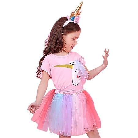Egosy - Conjunto de Camiseta y Falda de Encaje de Unicornio para ...