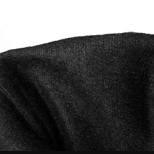 TAOFFEN Donne Moda Invernali Medio Nero Tacco Stivali Frcpr8w0qg
