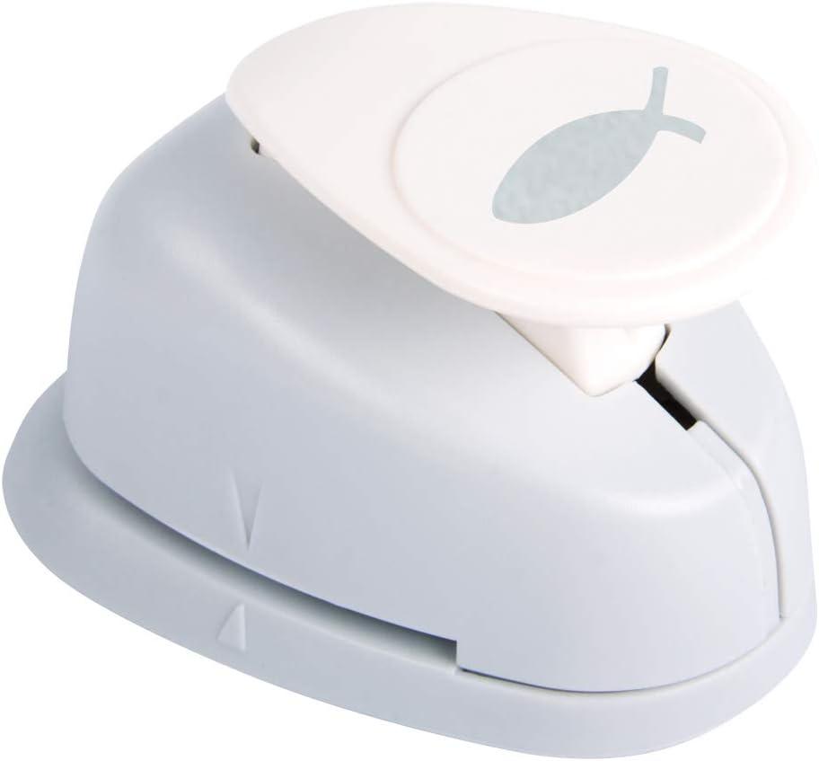 Rayher punzonatrice con Decorazione a Forma di Pesce dal Diametro di 1,6 cm Adatta per Carta e cartoncino con Una grammatura Fino a 200 g//m/² 3,81cm- 1,5 Zoll